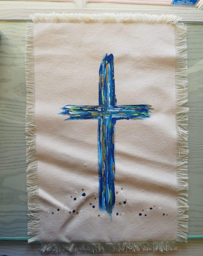 large blue cross